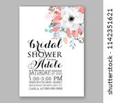 floral wedding invitation... | Shutterstock .eps vector #1142351621