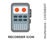 Recorder icon vector isolated on white background for your web and mobile app design, Recorder logo concept