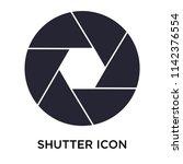 shutter icon vector isolated on ... | Shutterstock .eps vector #1142376554