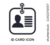 id card icon vector isolated on ... | Shutterstock .eps vector #1142376557