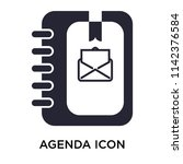 agenda icon vector isolated on... | Shutterstock .eps vector #1142376584