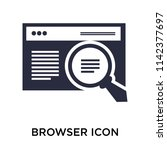 browser icon vector isolated on ...