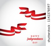 happy peru independent day... | Shutterstock .eps vector #1142378597
