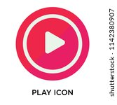 play icon vector isolated on... | Shutterstock .eps vector #1142380907