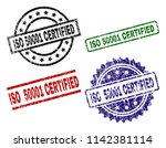 iso 50001 certified seal prints ...   Shutterstock .eps vector #1142381114
