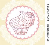 cake. vector illustration | Shutterstock .eps vector #1142392451