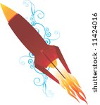 illustration of a rocket with... | Shutterstock . vector #11424016