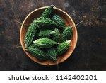 wild bitter gourd  bitter... | Shutterstock . vector #1142402201