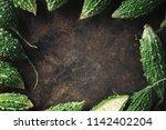wild bitter gourd  bitter... | Shutterstock . vector #1142402204