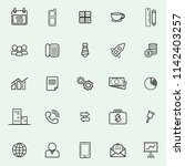 business icon simple set of... | Shutterstock .eps vector #1142403257