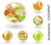 abstract globe set. vector... | Shutterstock .eps vector #114240967
