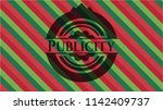 publicity christmas style badge.... | Shutterstock .eps vector #1142409737