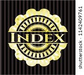 index shiny badge | Shutterstock .eps vector #1142409761