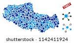 web tibet chinese territory map ... | Shutterstock .eps vector #1142411924