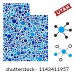 network utah state map mosaic.... | Shutterstock .eps vector #1142411957
