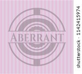 aberrant badge with pink...   Shutterstock .eps vector #1142415974