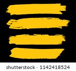 collection of hand drawn gold... | Shutterstock .eps vector #1142418524