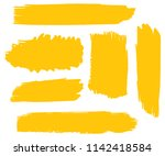 collection of hand drawn gold... | Shutterstock .eps vector #1142418584