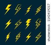 vector of thunder lightning... | Shutterstock .eps vector #1142419217