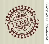 red eternal rubber seal with... | Shutterstock .eps vector #1142420294