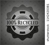 100  Recycled Black Emblem