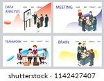 3d infographic business data... | Shutterstock .eps vector #1142427407
