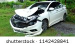 car after crash by accident. | Shutterstock . vector #1142428841