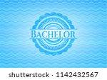 bachelor water emblem...   Shutterstock .eps vector #1142432567