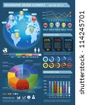 colorful infographic elements... | Shutterstock .eps vector #114245701