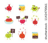 greeting cards with funny... | Shutterstock .eps vector #1142470061