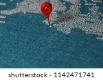 plane fly on painted map africa ...   Shutterstock . vector #1142471741