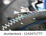metal gears are engine  gearbox ... | Shutterstock . vector #1142471777