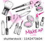 beauty store collection with... | Shutterstock .eps vector #1142473604