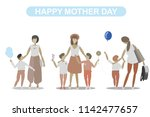 mom and son on white background | Shutterstock .eps vector #1142477657