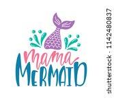 bundle of mermaid's cards.... | Shutterstock .eps vector #1142480837