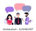 group of people  colleagues ... | Shutterstock .eps vector #1142481407