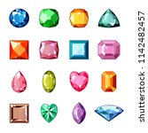 diamond vector crystal stone... | Shutterstock .eps vector #1142482457