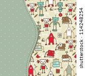 template frame design for... | Shutterstock . vector #114248254