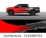 truck and vehicle graphic decal ...   Shutterstock .eps vector #1142484701