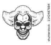 skull angry clown style. vector ...   Shutterstock .eps vector #1142487884