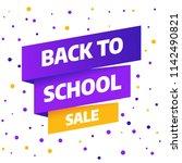 back to school sale banner...   Shutterstock .eps vector #1142490821