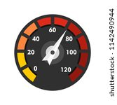 car speedometer icon. flat... | Shutterstock .eps vector #1142490944