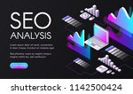 seo analysis vector... | Shutterstock .eps vector #1142500424