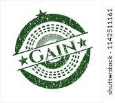 green gain distressed rubber...   Shutterstock .eps vector #1142511161