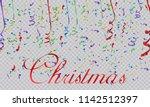 colorful bright confetti... | Shutterstock .eps vector #1142512397