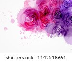 abstract watercolor background... | Shutterstock . vector #1142518661