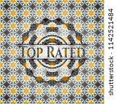 top rated arabesque badge.... | Shutterstock .eps vector #1142521484