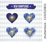 new hampshire with love. design ... | Shutterstock .eps vector #1142523821