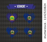 vermont. collection of four... | Shutterstock .eps vector #1142523824