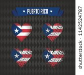 puerto rico. collection of four ... | Shutterstock .eps vector #1142524787